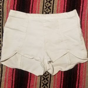 Free People White Hot Pants